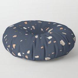 Midnight Navy Terrazzo #1 #decor #art #society6 Floor Pillow