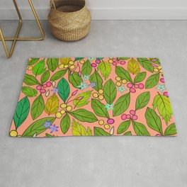 Beans and Leaves Rug