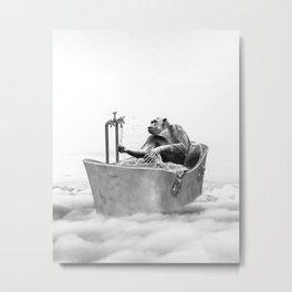 CHIMPANZEE BATH Metal Print
