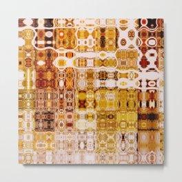Amber Gypsy Mosaic Abstract  Metal Print