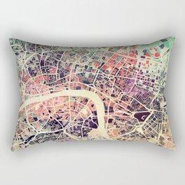 London Mosaic Map #1 Rectangular Pillow