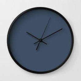 Restless Nomad Dark Blue Solid Color Pairs To Sherwin Williams Indigo Batik SW 7602 Wall Clock