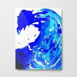 Save The Water Watercolour Metal Print
