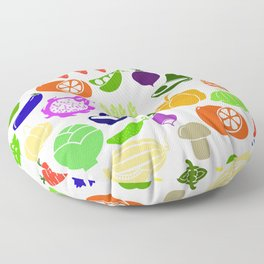 vegetables and fruits Floor Pillow
