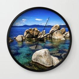 Stones at Tahoe  Wall Clock
