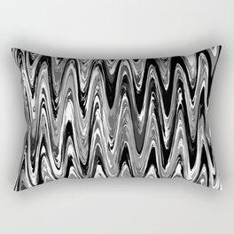Zigzag Black and White Rectangular Pillow