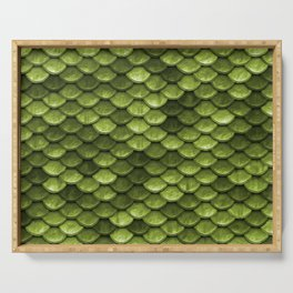 Mermaid Scales | Green with Envy Serving Tray