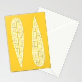Golden Gum Leaves Stationery Cards