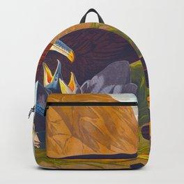 Great crested grebe James Audubon Vintage Scientific Illustration American Birds Backpack