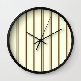 Cream and Brown Stripes Wall Clock