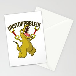 Unstoppable T-Rex Dinos Lover Gift Stationery Cards