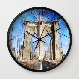 New York City, Bridgework Wall Clock