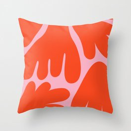 Flower Tops in Orange and Pink Throw Pillow