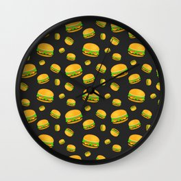 Cool and fun yummy burger pattern Wall Clock