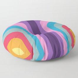 Retro Rainbow 02 Floor Pillow