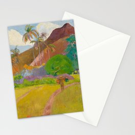 Paul Gauguin - Tahitian Landscape 'Montagnes tahitiennes' (1891) Stationery Cards