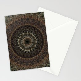 Mandala in brown tones Stationery Cards