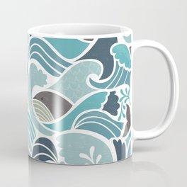 Whales in Waves Coffee Mug