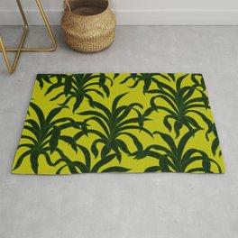 Vibrant Green Tropical Palms Rug