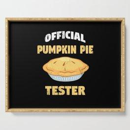 Pumpkin Pie Tester Serving Tray