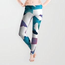 Pattern Oil Painting Abstract Tropical Fish Leggings