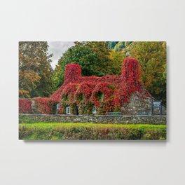 Autumn Tea House Llanrwst Wales Metal Print
