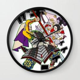 "Benkei VS Ushiwaka ""fight on the bridge"" Wall Clock"