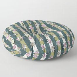 Lar Gibbon Lily Wreath Floor Pillow