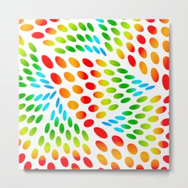Colourful Ovals Metal Print