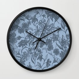 Wilderness: Grey and Blue Wall Clock