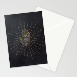 I believe In Magic Gold Tribals On Blue Velvet Stationery Cards