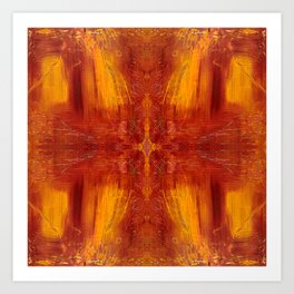 Buffalo Red Art Print