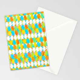 Octagons 2 - Gold and Green Stationery Cards