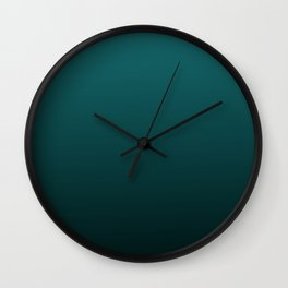 Gradient Collection - Deep Teal Turquoise - Accent Color Decor - Lowest Price On Site Wall Clock