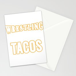 "Retro Wrestling Shirt For Professional Wrestler ""If You Said Wrestling & Tacos I'm In""T-shirt Design Stationery Cards"