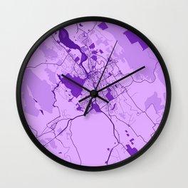 Launceston - Australia Lavender City Map Wall Clock