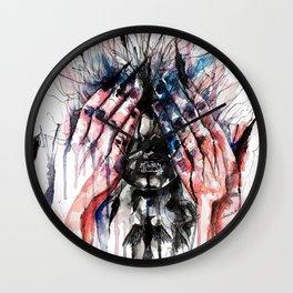 Metamorphosis-crow Wall Clock