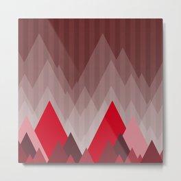 Triangular Mountain Range Metal Print