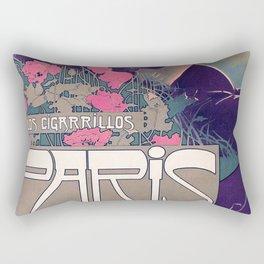 Poster Los Cigarillos Paris - A. Villa (new color rendition) Rectangular Pillow