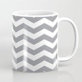 Grey Chevron Pattern Coffee Mug