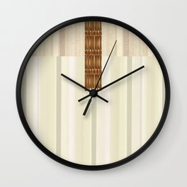 Blonde Wood Clutch with Brass Clasp Wall Clock