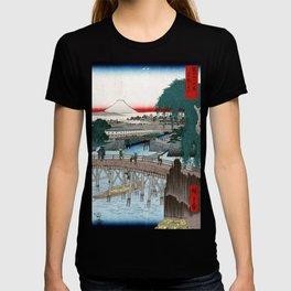 Utagawa Hiroshige Ichikobu Bridge T-shirt
