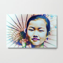 Chinese Asian Woman Beauty Metal Print