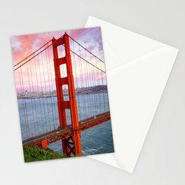 Golden Gate Sunset Stationery Cards