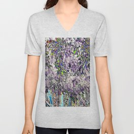 Emanating high vibrational violet energy Unisex V-Neck