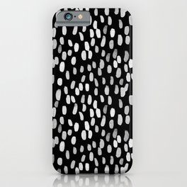 Painted Rain | Black and White iPhone Case