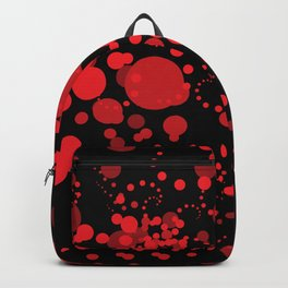 Red Bubbles Backpack