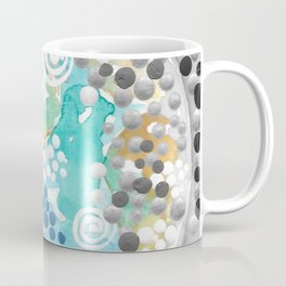 EARTH ART PAINTING modern nature paintings globe the earth from space decor the world wall artwork beautiful oceans pointillism stickykitties Coffee Mug
