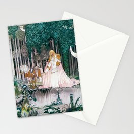 Kay Nielsen - Prince Who Notices Lassi On The Tree Trying To Drink Water In The Fountain Stationery Cards