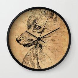 Vintage Fox Wall Clock